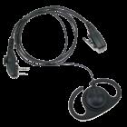 Verstelbare D-type luidspreker met PTT voor HYT 2-PIN