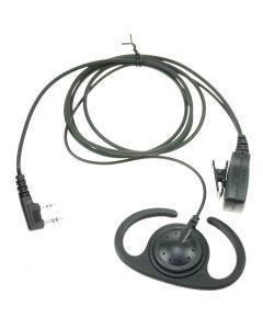 EP-0409-K2 Verstelbare D-type luidspreker met PTT voor KENWOOD