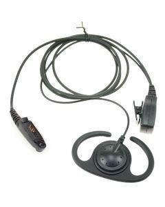 Verstelbare D-type luidspreker met PTT voor MOTOROLA D6 (GP340/GP360)