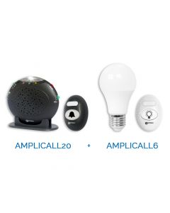 AMPLICALL PACK (AMPLICALL 20 Draadloze Bel + AMPLICALL 6 Led Lamp)