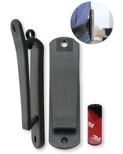 Clip-03 Universele Riemclip voor GSM's, Walkie-talkies, draadloze toestellen (1 stuk)