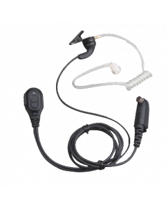 EAN04 halssnoer met on-mic PTT, transparante akoestische buis & volumeregeling