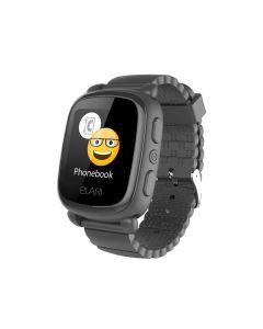 KidPhone-2 - Smartwatch met Tracker en SOS knop (Zwart)
