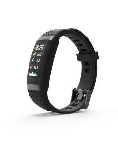 SW-380HR Smartwatch met Hartslagmeter (Zwart)